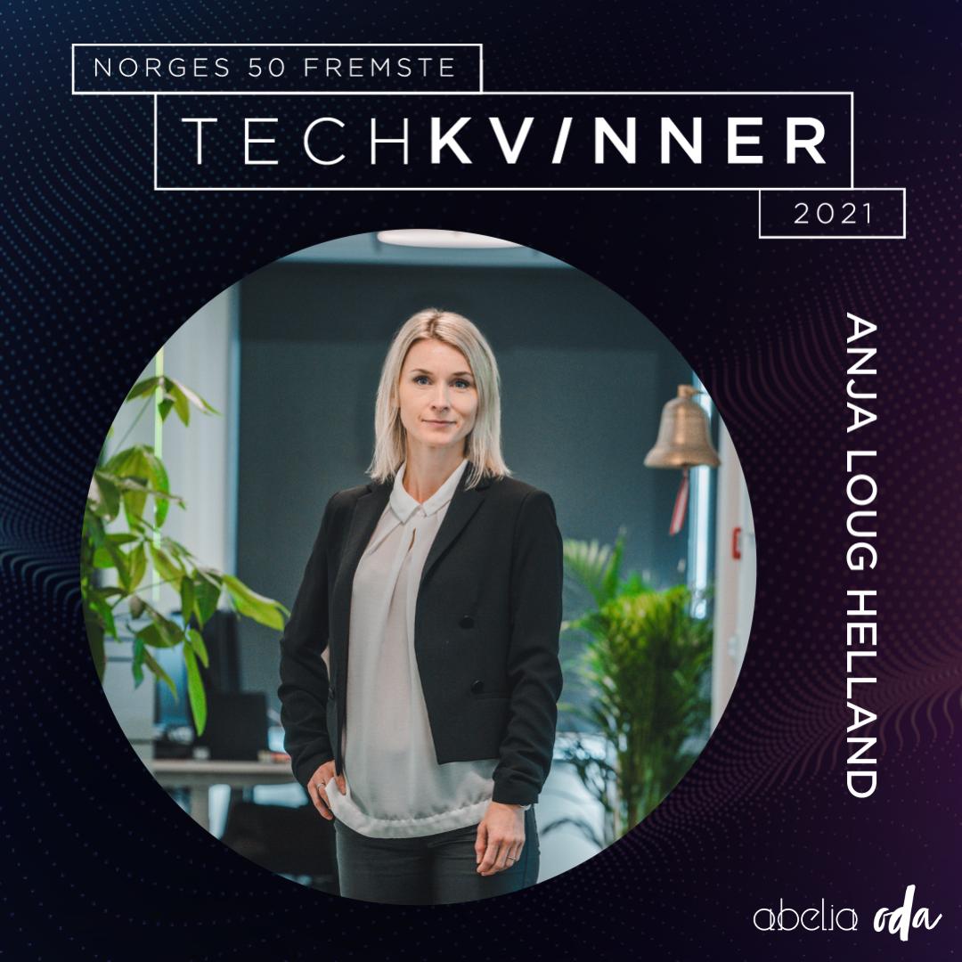 Anja Loug Helland one of Norway's 50 leading tech women.